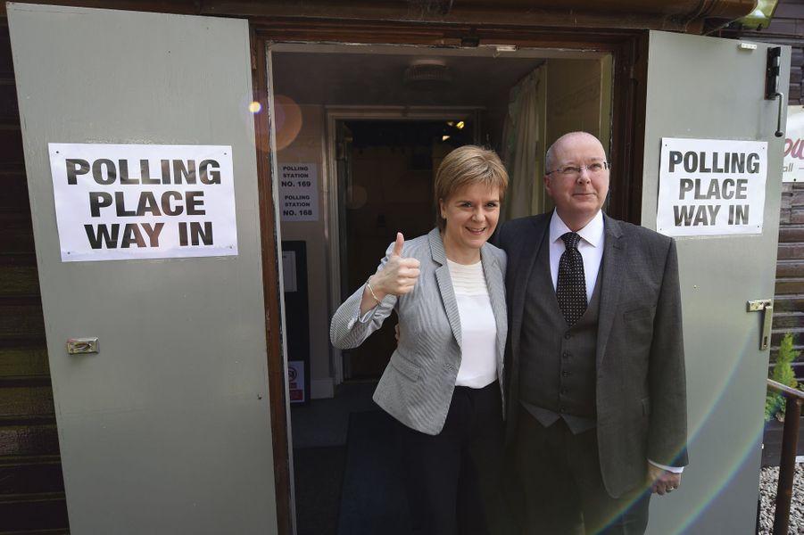 Brexit: Nicola Sturgeon a voté jeudi à Glasgow.
