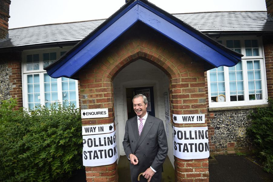 Brexit: Nigel Farage a voté jeudi à Biggin Hill.