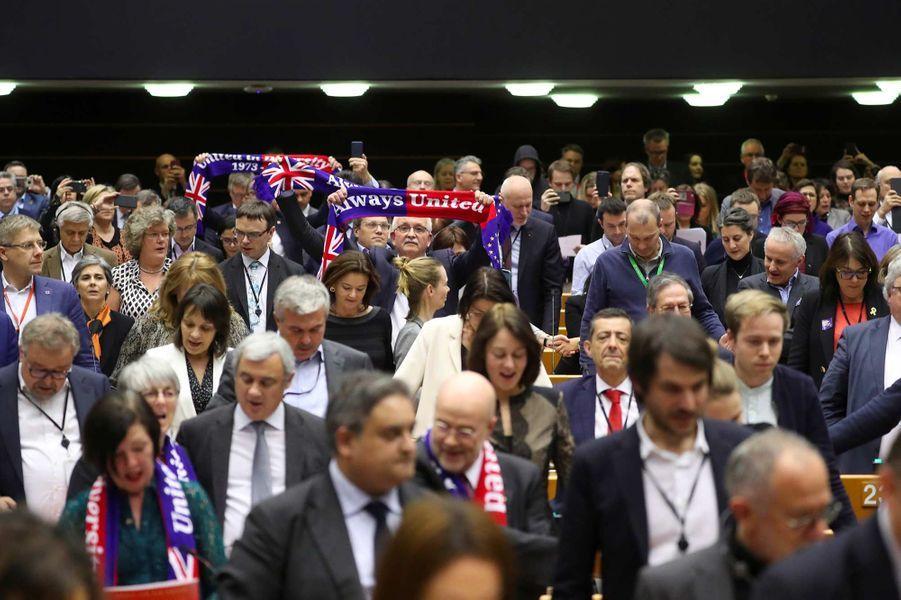 Le Parlement européen a ratifié, mercredi 29 janvier 2020, le traité de retrait du Royaume-Uni de l'Union européenne.