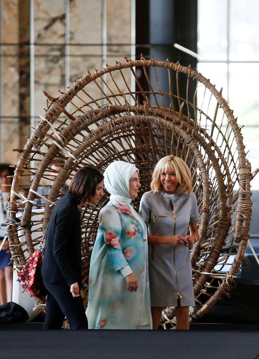 Brigitte Macron et Emine Erdogan