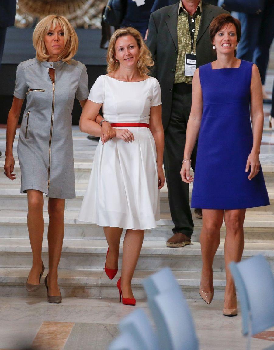 Brigitte Macron, Mojca Stropnik et Amelie Derbaudrenghien