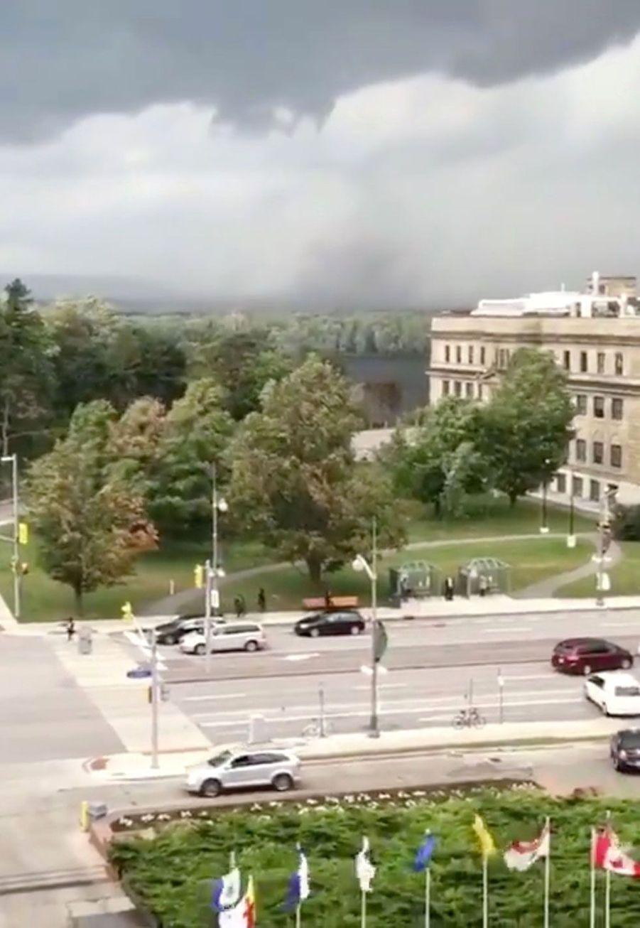La tornade àGatineau, dans la région d'Ottawa