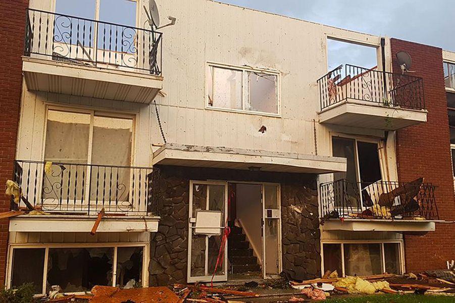 Les dégâts de la tornade àGatineau, dans la région d'Ottawa
