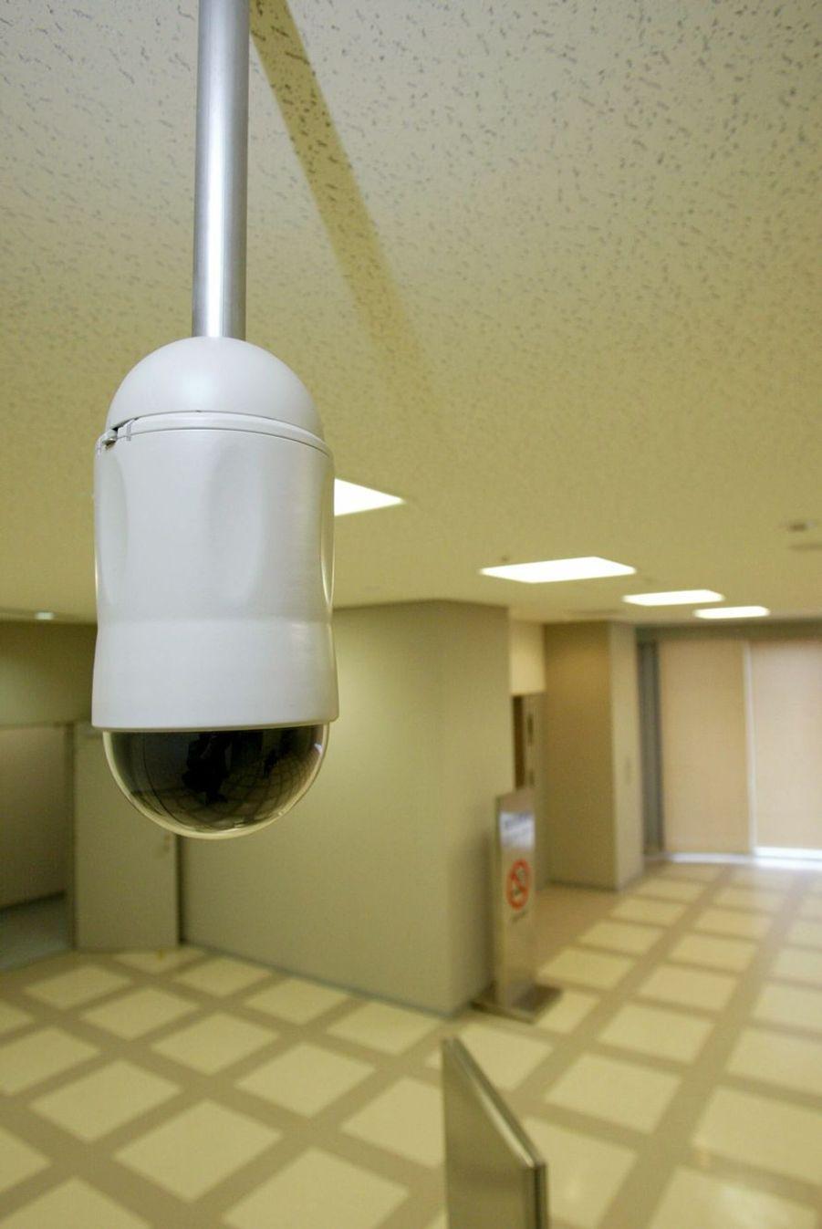 Caméra de surveillance du centre de détention de l'arrondissement de Katsushika à Tokyo.