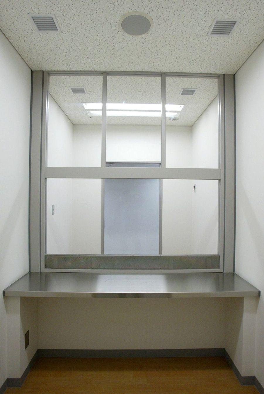 Parloir du centre de détention de l'arrondissement de Katsushika à Tokyo.