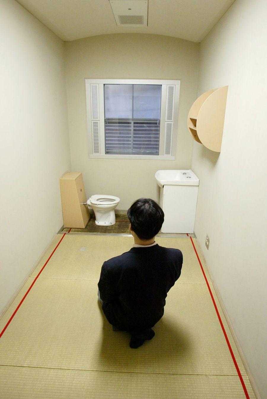 Cellule individuelle du centre de détention de l'arrondissement de Katsushika à Tokyo.