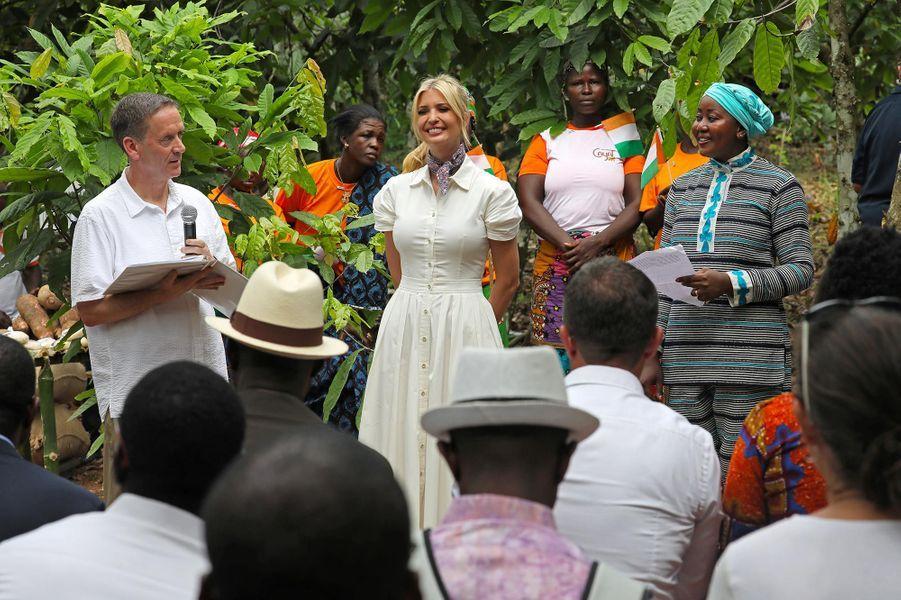 Ivanka Trump à Adzope, en Côte d'Ivoire, le 17 avril 2019.