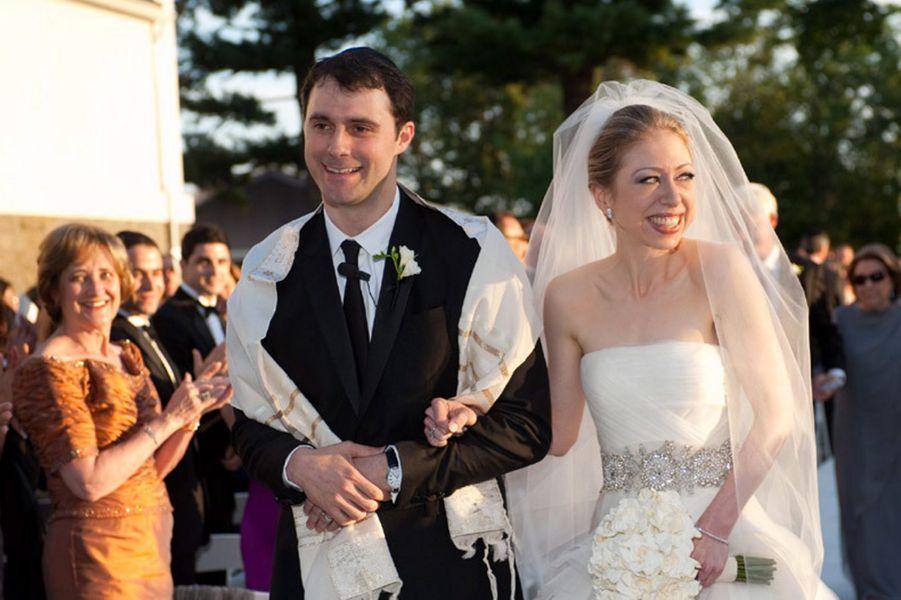 Marc Mezvinsky etChelsea Clinton le jour de leur mariage, en août 2010.