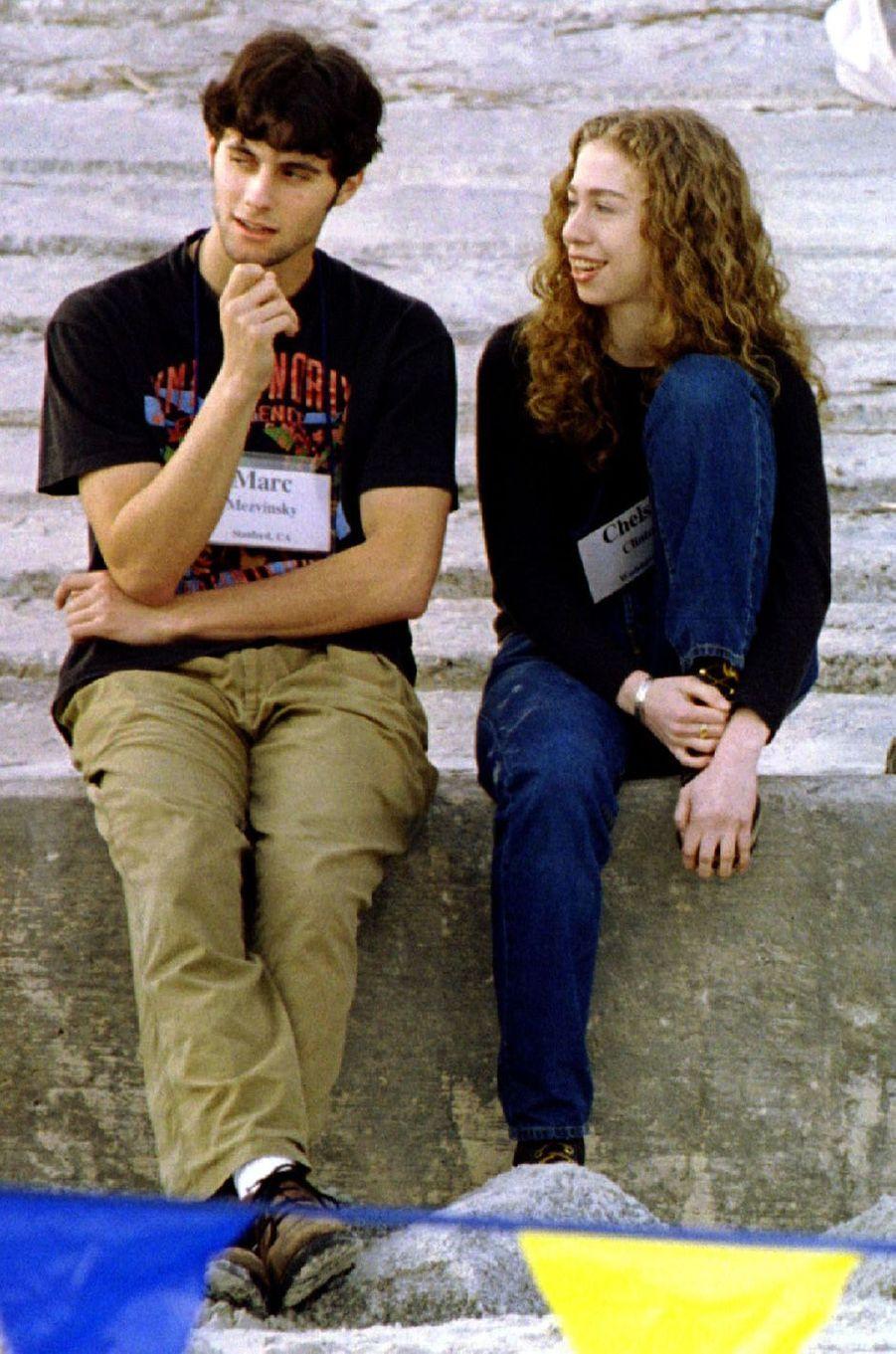 Marc Mezvinsky etChelsea Clinton, en décembre 1996.