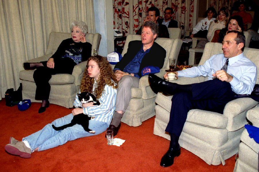 Chelsea Clinton, en janvier 1993.