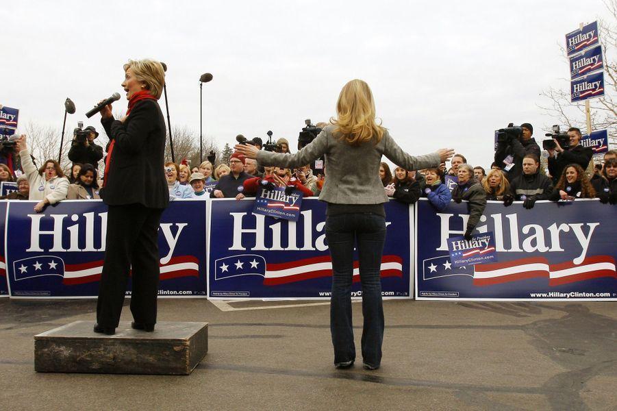 Hillary etChelsea Clinton, en janvier 2008.