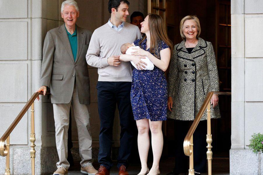 Chelsea Clinton en juin 2016, après avoir donné naissance à son fils Aiden.