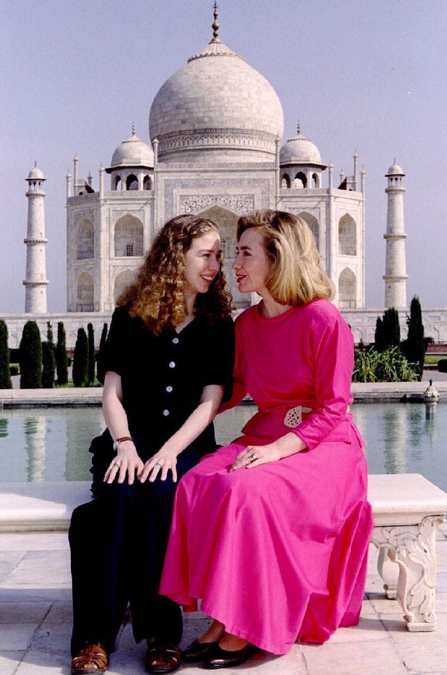 Hillary etChelsea Clinton, en mars 1995.