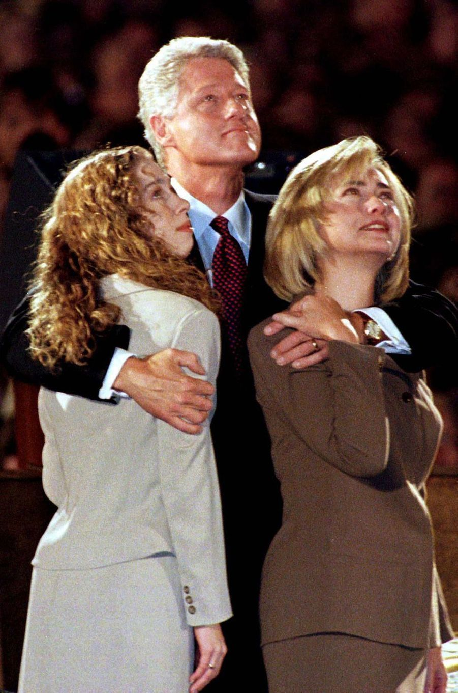 Bill, Hillary etChelsea Clinton, en novembre 1996.