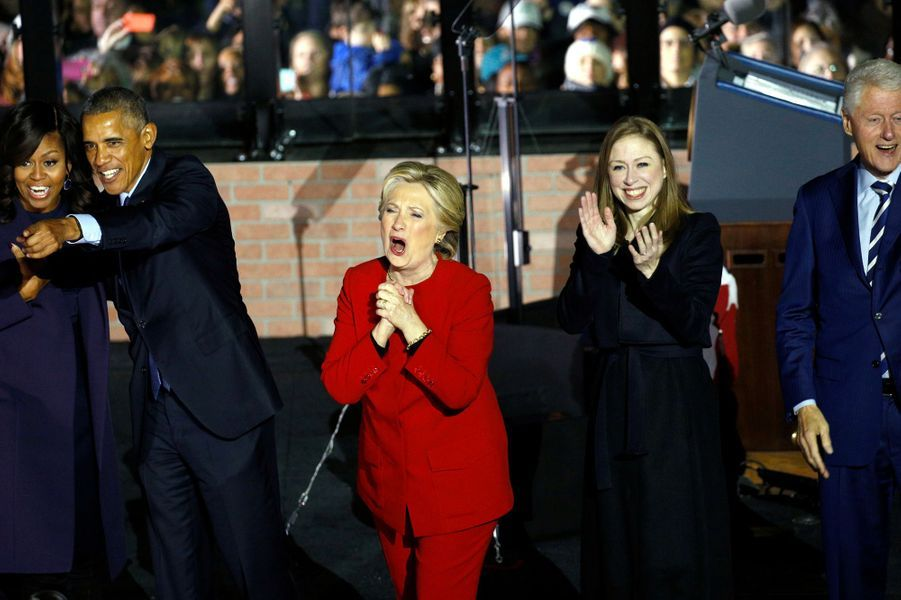 Hillary etChelsea Clinton, en novembre 2016.