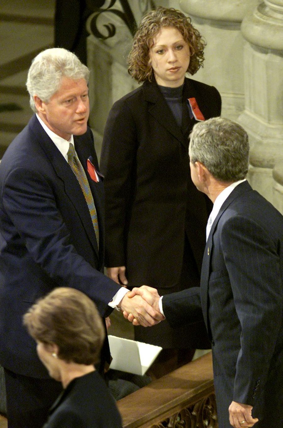 Bill et Chelsea Clinton, en septembre 2001.