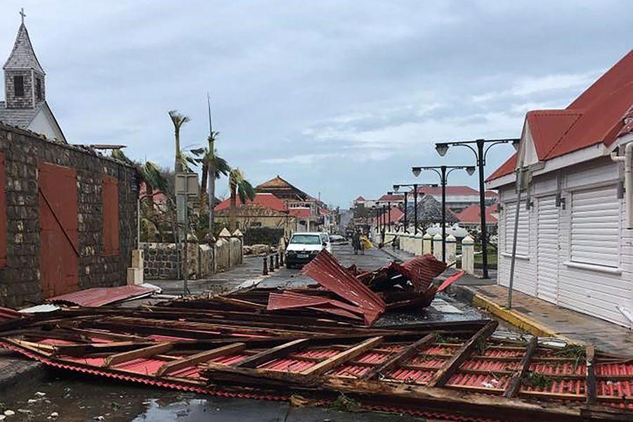 Les dégâts sont importants à Saint-Barthélemy.