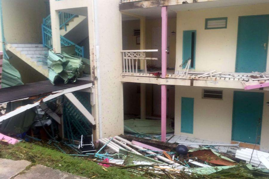 A Saint-Martin, l'île est dévastée.
