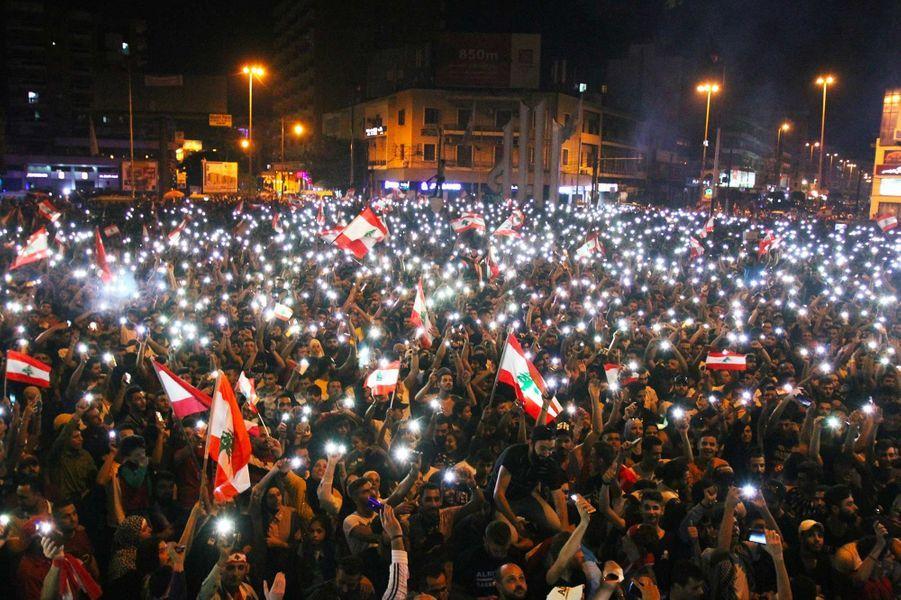 Manifestation à Tripoli, au Liban, le 20 octobre 2019.