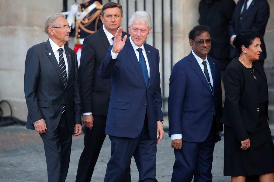 Bill Clinton à l'église Saint-Sulpice pour l'hommage à Jacques Chirac, le 30 septembre 2019.