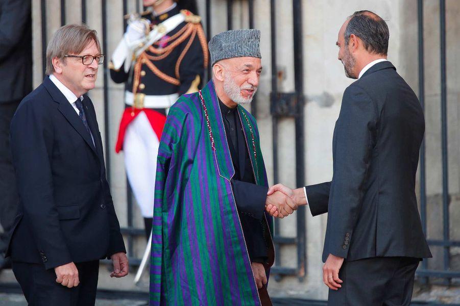 Hamid Karzai à l'église Saint-Sulpice pour l'hommage à Jacques Chirac, le 30 septembre 2019.