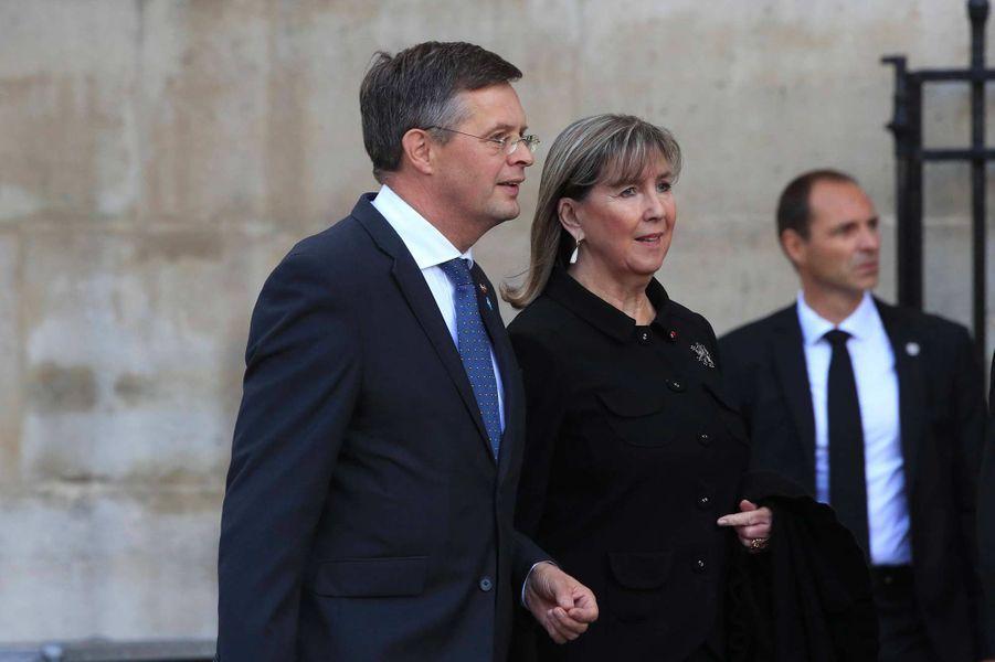 L'ancien Premier ministre néerlandais Jan-Peter Balkenendeà l'église Saint-Sulpice pour l'hommage à Jacques Chirac, le 30 septembre 2019.
