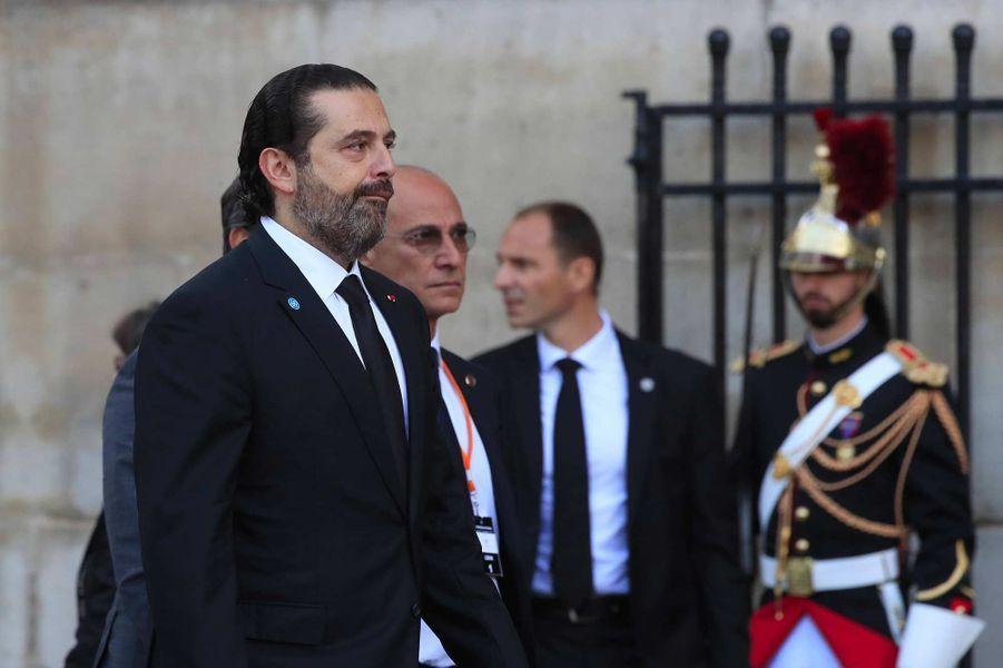 Saad Hariri à l'église Saint-Sulpice pour l'hommage à Jacques Chirac, le 30 septembre 2019.