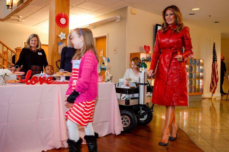 Melania Trump au Children's Inn, à Bethesda, le 14 février 2020.