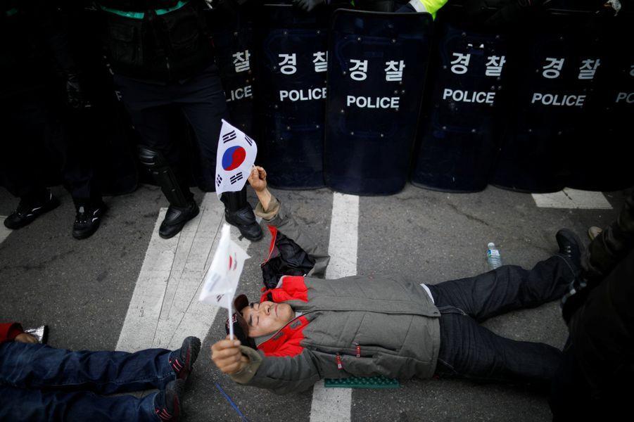 Manifestation à Séoul, le 10 mars 2017.