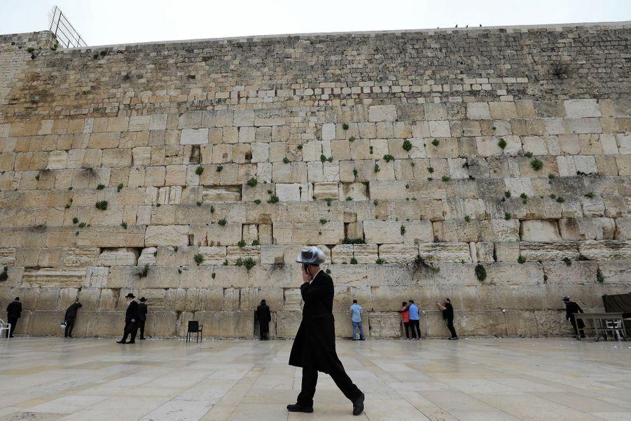Le mur des lamentations, Jérusalem, Israël.