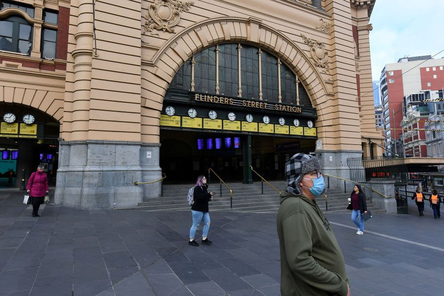 Melbourne est particulièrement touchée par la crise du covid-19.