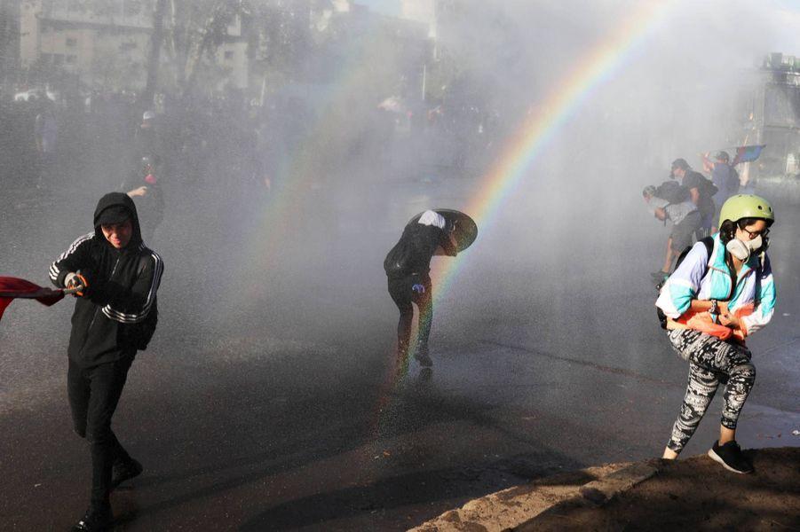 Manifestation à Santiago du Chili, le 20 décembre 2019.
