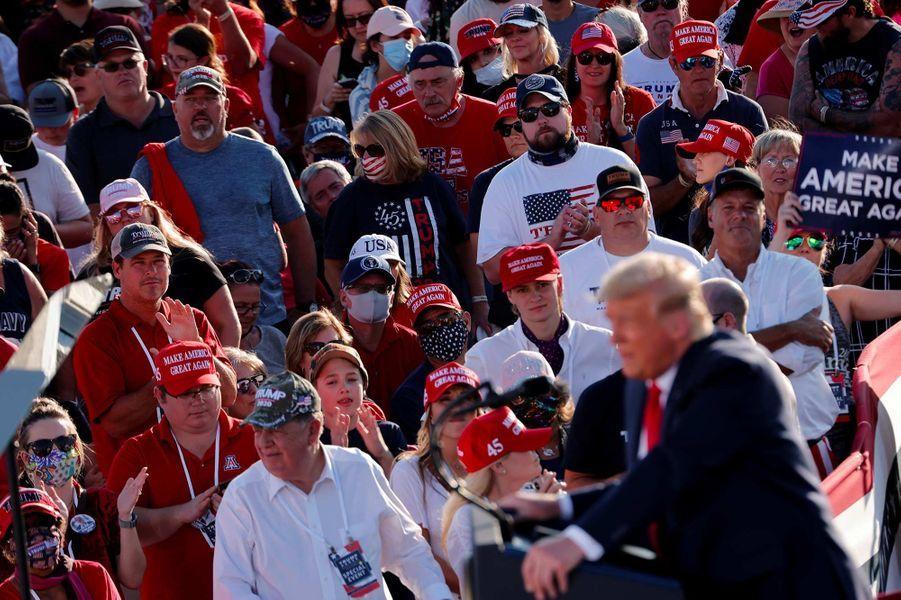 Donald Trump en meeting à Tucson, dans l'Arizona, le 19 octobre 2020.