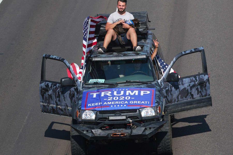 Rassemblement de partisans de Donald Trump dans l'Oregon, le 7 septembre 2020.