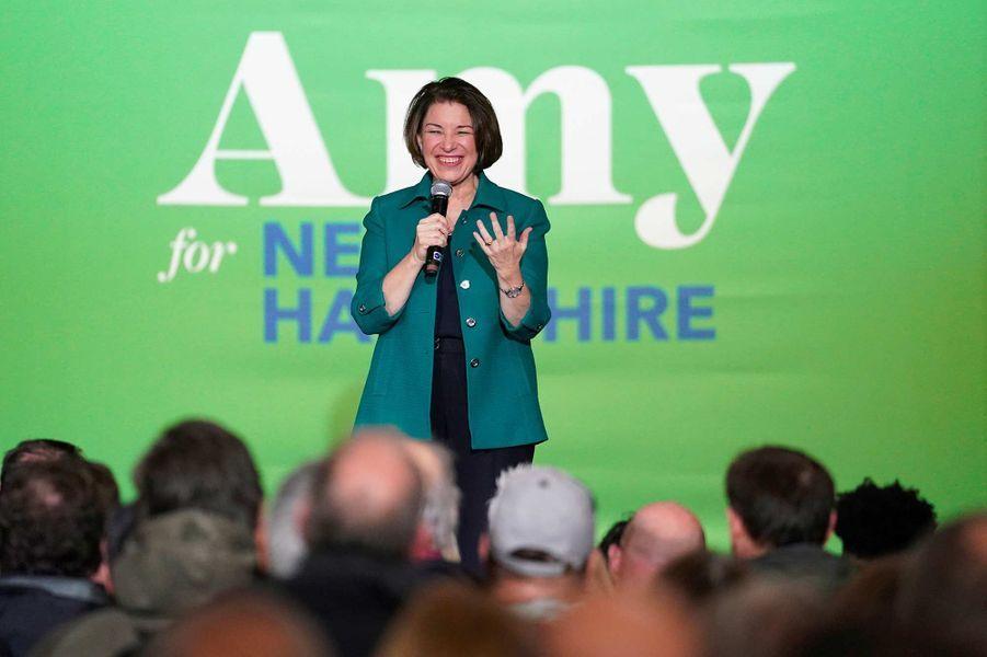 Amy Klobuchar en meeting à Exeter, dans le New Hampshire, le 10 février 2020.