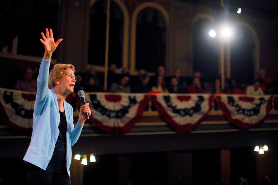 Elizabeth Warren en meeting à Rochester, dans le New Hampshire, le 10 février 2020.