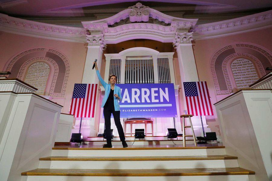 Elizabeth Warren en meeting à Portsmouth, dans le New Hampshire, le 10 février 2020.
