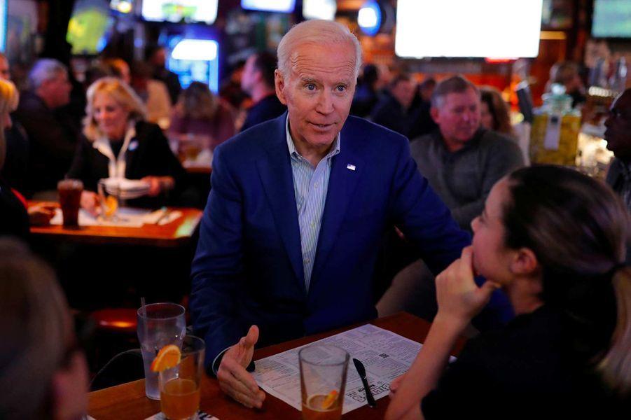 Joe Biden à Manchester, dans le New Hampshire, le 10 février 2020.