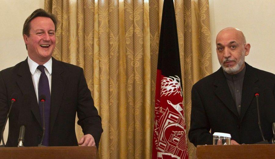 Le président afghan et le jeune leader britannique en conférence à Kaboul.