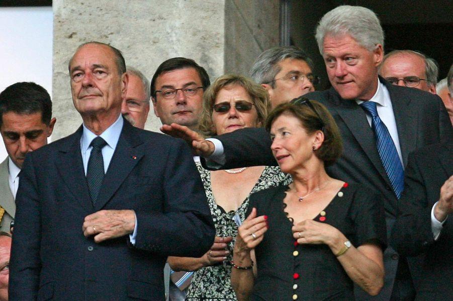 Jacques Chirac et Bill Clinton à Berlin, avant la finale de la Coupe du monde de foot, en juillet 2006.