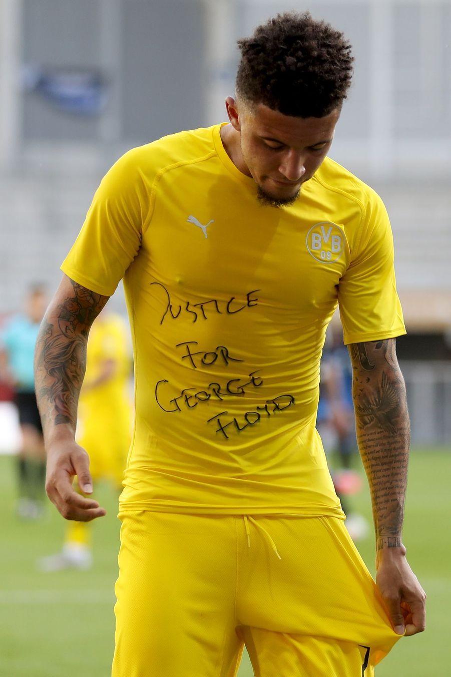 Jadon Sancho, joueur à Dortmund, à Paderborn en Allemagne, le 31 mai 2020.