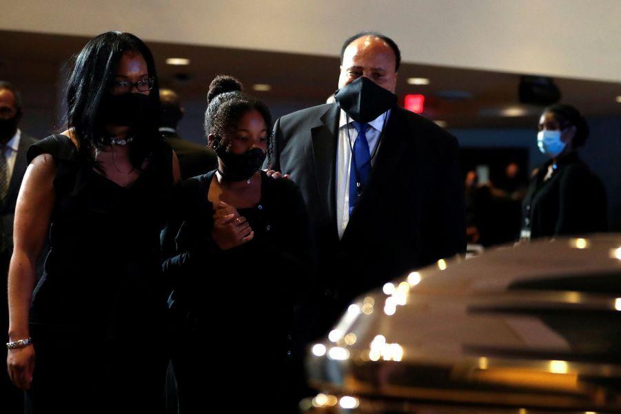 Martin Luther King IIIà la cérémonie en hommage à George Floyd.