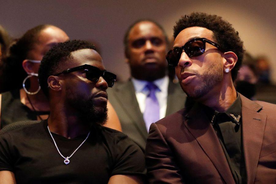 Kevin Hart et Ludacris à la cérémonie en hommage àGeorge Floyd.