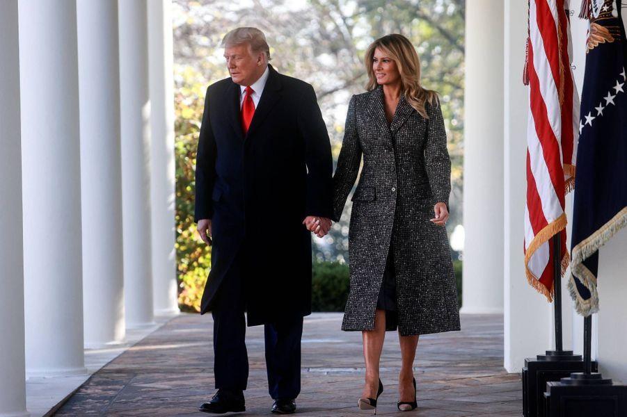 Donald et Melania Trump à la Maison-Blanche, le 24 novembre 2020.