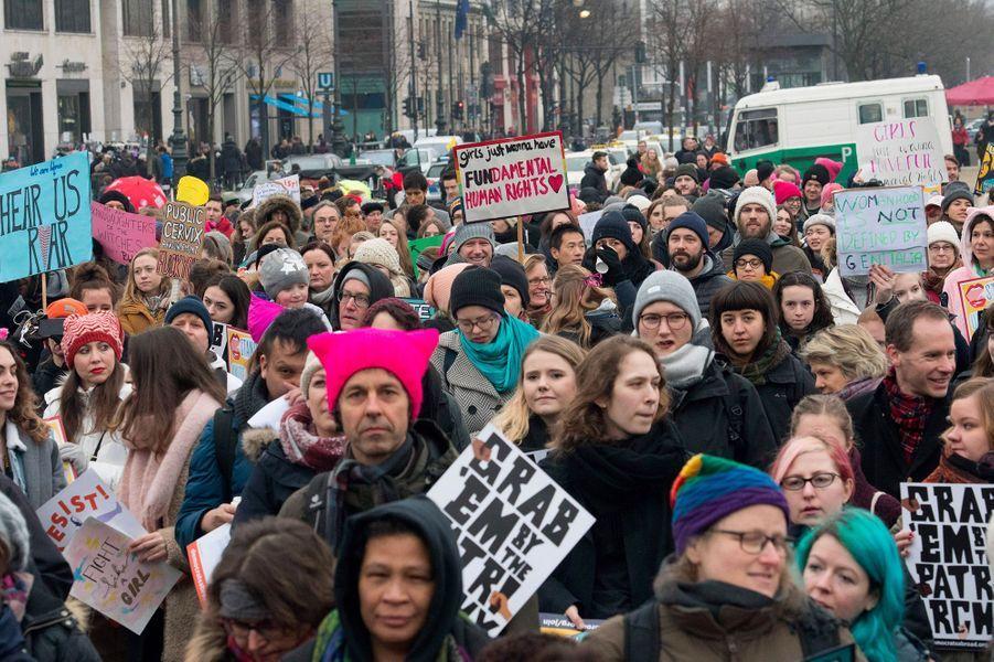 Manifestation à Berlin, le 21 janvier 2018.