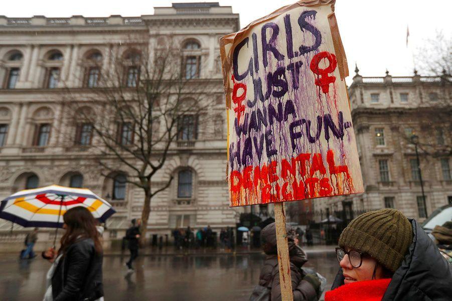 Manifestation à Londres, le 21 janvier 2018.