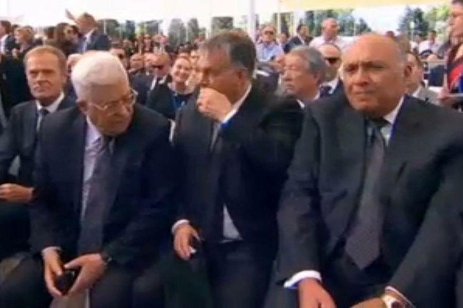 Le président palestinien Mahmoud Abbasaux funérailles de Shimon Peres, à Jérusalem, le 30 septembre 2016.