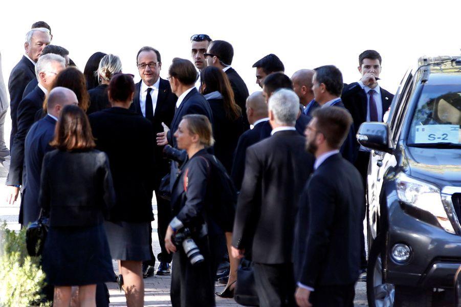 Bill Clintonarrive aux funérailles de Shimon Peres, à Jérusalem, le 30 septembre 2016.