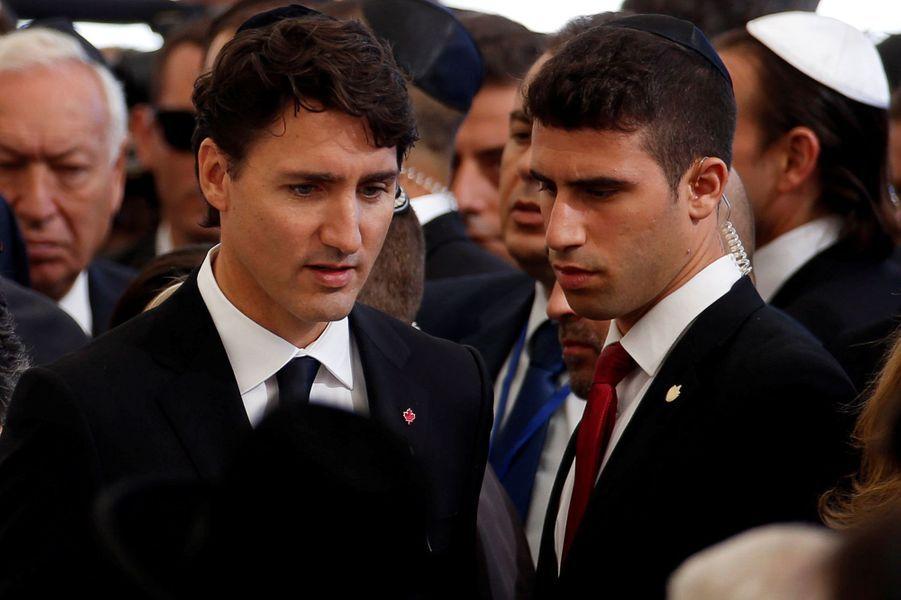 Justin Trudeauaux funérailles de Shimon Peres, à Jérusalem, le 30 septembre 2016.