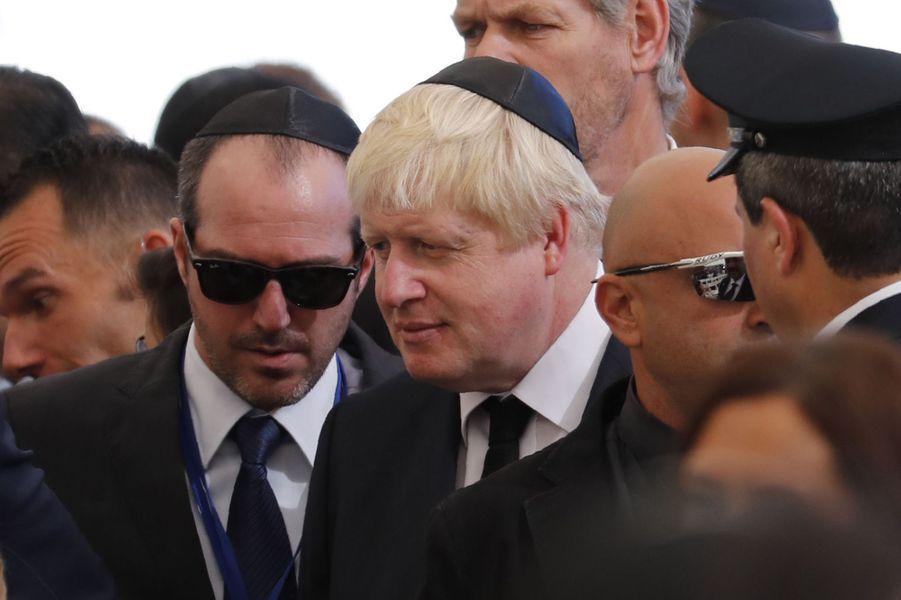 Boris Johnsonaux funérailles de Shimon Peres, à Jérusalem, le 30 septembre 2016.